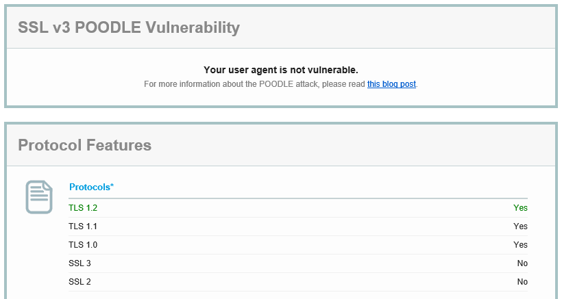 Qualys Client Test Not Vulnerable